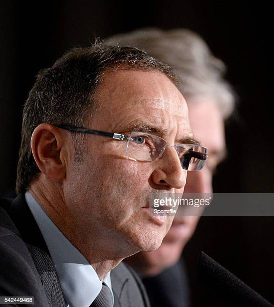9 November 2013 The new Republic of Ireland manager Martin O'Neill and FAI Chief Executive John Delaney speaking at his first press conference Gibson...