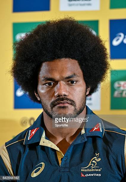 20 November 2014 Australia's Henry Speight during a press conference ahead of their side's Guinness Series match against Ireland on Saturday...