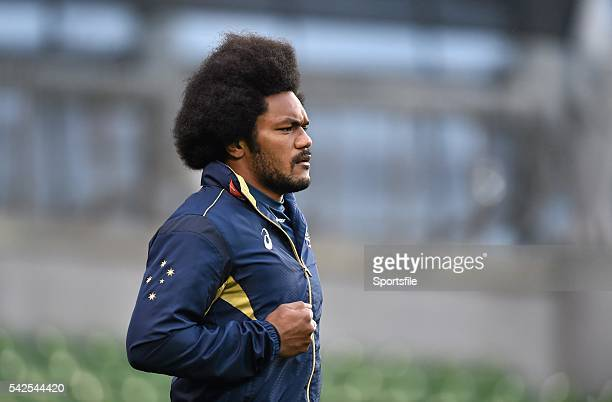 21 November 2014 Australia's Henry Speight during squad training ahead of their side's Guinness Series match against Ireland on Saturday Australia...