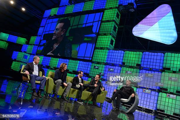 6 November 2014 Bono Musician Elevation Partners discusses Movies Music in the 21st Century with Dana Brunetti Producer House Of Cards Eric Wahlforss...