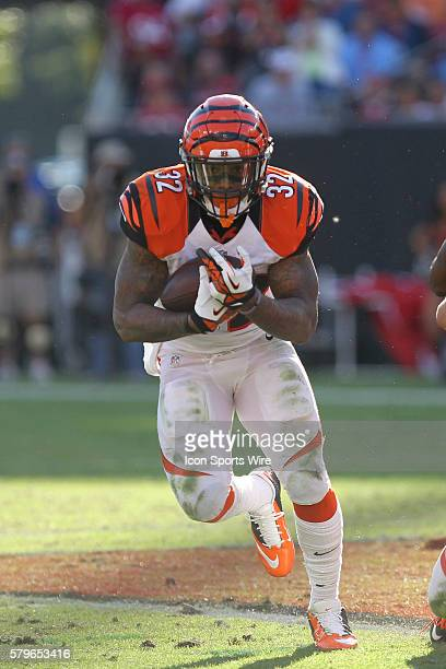 Cincinnati Bengals running back Jeremy Hill runs the ball in the 4th quarter of the NFL regular season game between the Cincinnati Bengals and Tampa...