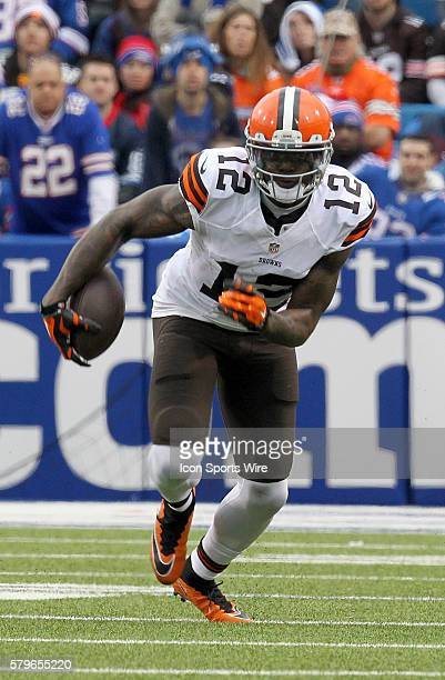 Cleveland Browns wide receiver Josh Gordon in action during a NFL game between the Cleveland Browns and Buffalo Bills at Ralph Wilson Stadium in...