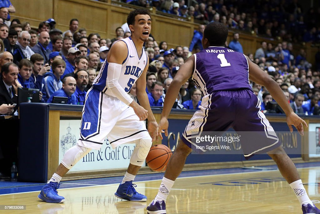 1691e1f3755d Duke s Tyus Jones and Furman s John Davis III . The Duke University ...