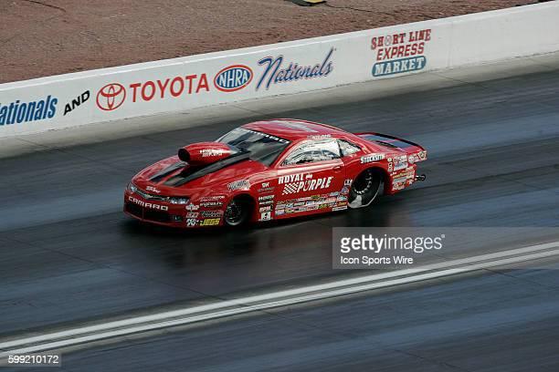 Erica EndersStevens Chevrolet Camaro NHRA Pro Stock during the NHRA Toyota Nationals at The Strip at Las Vegas Motor Speedway in Las Vegas Nevada