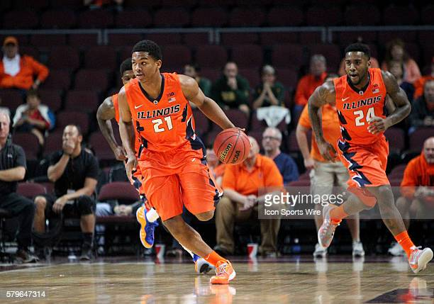 Illinois guard Malcom Hill during a game against Baylor at the Continental Tire Las Vegas Invitational at the Orleans Arena in Las Vegas Nevada The...