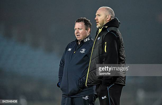 29 November 2014 Leinster head coach Matt O'Connor left and Ospreys head coach Steve Tandy ahead of the game Guinness PRO12 Round 9 Leinster v...