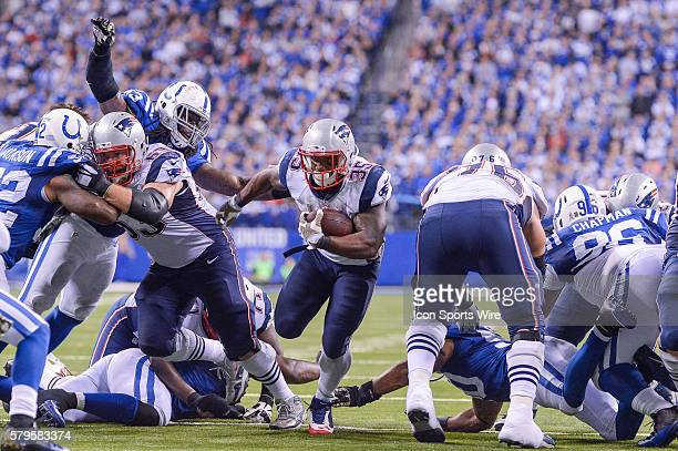 New England Patriots Running Back Jonas Gray [18297] in action during a football game between the Indianapolis Colts and New England Patriots at...
