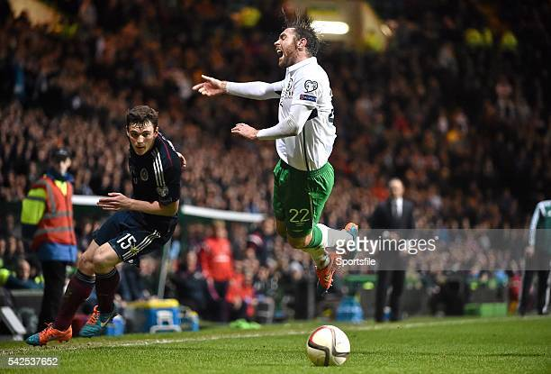 November 2014; Richard Keogh, Republic of Ireland, in action against Andrew Robertson, Scotland. UEFA EURO 2016 Championship Qualifier, Group D,...