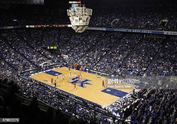 Rupp Arena in a game between the TexasArlington Mavericks and the Kentucky Wildcats at Rupp Arena in Lexington KY