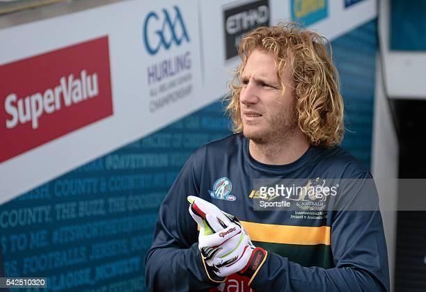 18 November 2015 David Mundy Australia arrives for squad training Australia Squad Training EirGrid International Rules 2015 Croke Park Dublin Picture...