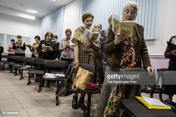 Jehovah's witnesses sing songs during the meeting in RostovonDon Although RostovonDon is only 80 km away from Taganrog the organization is not banned...