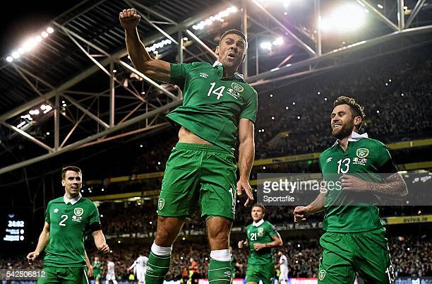 16 November 2015 Jon Walters Republic of Ireland celebrates after scoring his side's first goal UEFA EURO 2016 Championship Qualifier Playoff 2nd Leg...