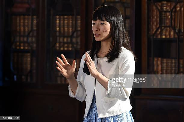 4 November 2015 Marie Kondo Author and Organising Consultant Marie Kondo on the Society Stage during Day 2 of the 2015 Web Summit in the RDS Dublin...