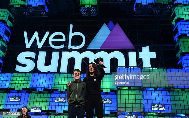 3 November 2015 Mary Moloney Global CEO of Coder Dojo along with Donal Murphy from St Paul's College Clontarf Co Dublin at Schools Summit during Day...