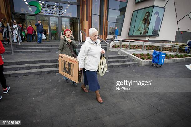 November 2015 People are seen attending the opening of the Zielony Arkady one of Poland's largest shopping malls on Friday The recently elected...