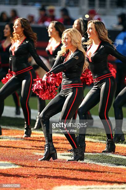 San Francisco 49ers cheerleaders during action in an NFL game with the Arizona Cardinals at Levi's Stadium in Santa Clara CA The Cards won 1913