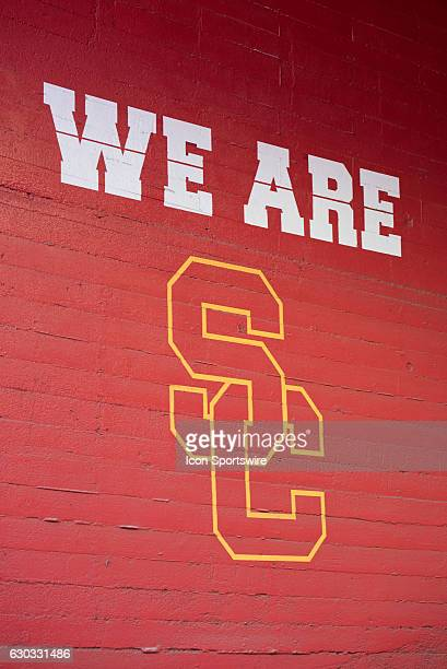 The tunnel near the USC locker room before an NCAA football game between the Utah State Aggies and the USC Trojans at the Los Angeles Memorial...