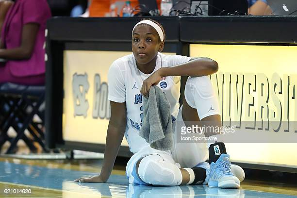 North Carolina's Alyssa Okoene The University of North Carolina Tar Heels hosted the CarsonNewman University Lady Eagles at Carmichael Arena in...