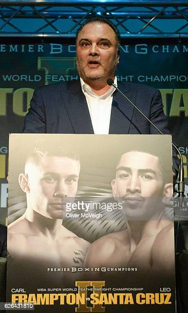 November 2016 Richard Schaefer joint promoter during a Carl Frampton v Leo Santa Cruz press conference at the Europa Hotel in Belfast Co Antrim