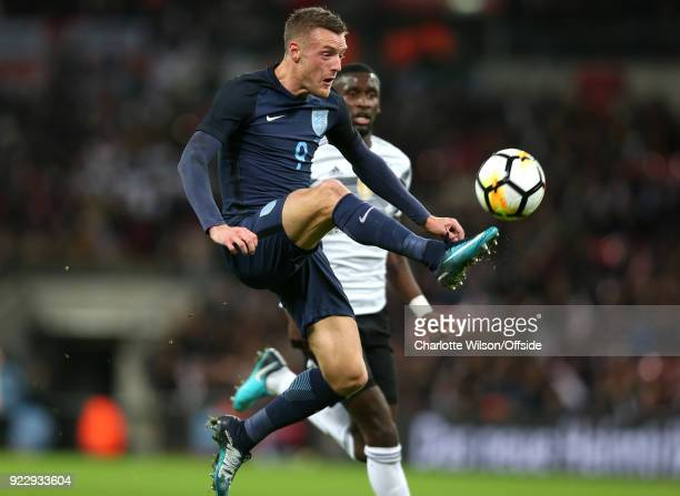 10 November 2017 International Football Friendly England v Germany Jamie Vardy of England controls the ball