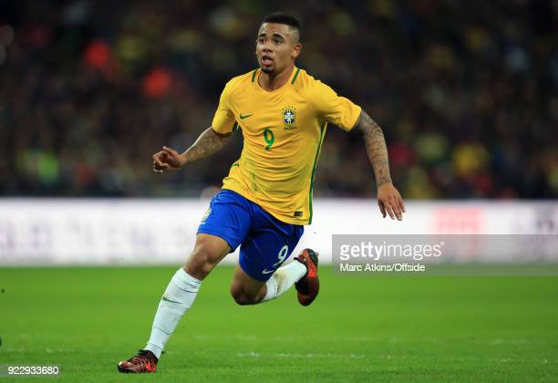 14 November 2017 International Friendly England v Brazil Gabriel Jesus of Brazil