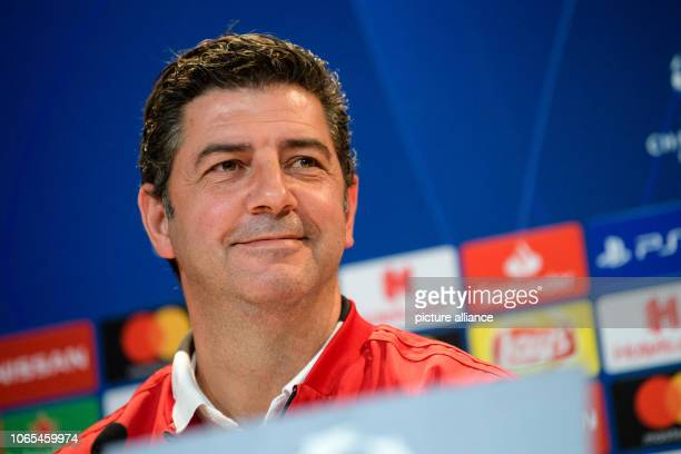November 2018, Bavaria, München: Soccer: Champions League, FC Bayern - Benfica Lisbon, Group stage, Group E, 5th matchday, Lisbon press conference in...