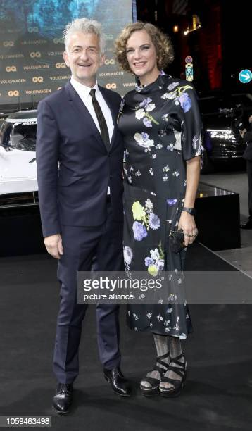 Actor Dominic Raacke and girlfriend Alexandra Rohleder come to the gala 'GQ Men of the Year 2018' Photo Jörg Carstensen/dpa