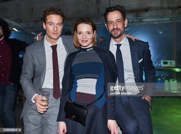 Actors Alexander Fehling and Karoline Herfurth with producer Christopher Doll Doll and Hellinger Filmproduktion at the premiere of the Amazon Prime...