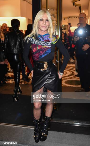Fashion designer Donatella Versace is coming to the Versace Boutique on Kurfürstendamm for the Versace cocktail for the Christmas season Photo Jens...