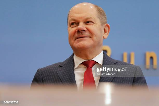 Federal Finance Minister Olaf Scholz at a press conference on the planned reform of the land tax law Photo Carsten Koall/dpa