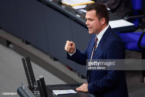 Gero Clemens Hocker member of the Bundestag will speak in the Bundestag at the beginning of the final deliberations on the federal budget for 2019...