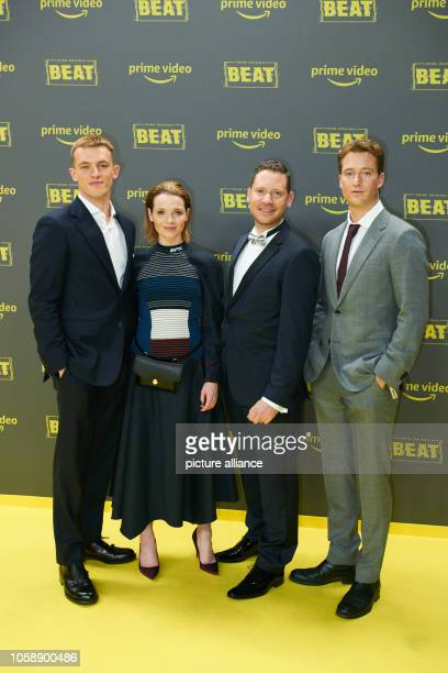 Jannis Niewöhner actor Karoline Herfurth actress Marco Kreuzpaintner director and Alexander Fehling actor at the premiere of the Amazon Prime series...