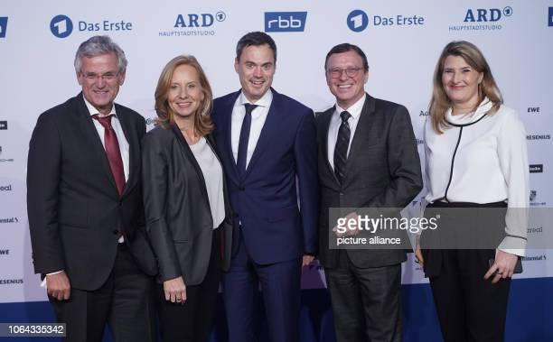 Peter Frey ZDF EditorinChief Patricia Schlesinger RBB DirectorGeneral Norbert Himmler ZDF Programme Director Volker Herres ARD Programme Director and...