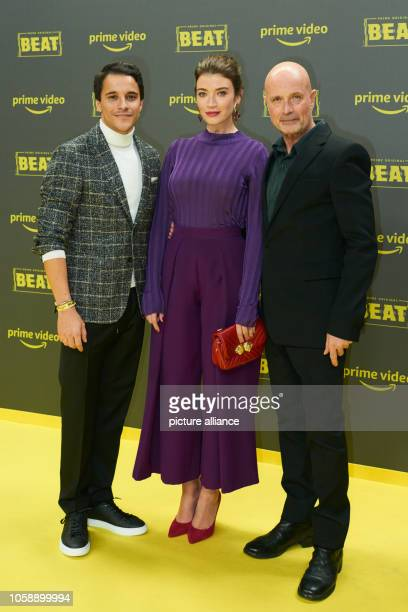 The actors Kostja Ullmann Anna Bederke and Christian Berkel at the premiere of the Amazon Prime series 'Beat' Photo Annette Riedl/dpa