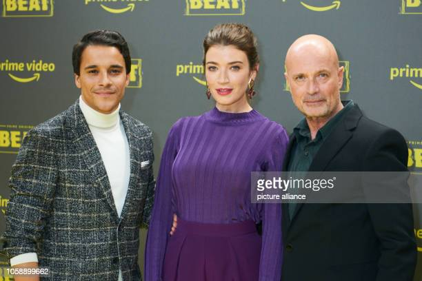 The actors Kostja Ullmann Anna Bederke and Christian Berkel come to the premiere of the Amazon Prime series 'Beat' at the Kraftwerk Berlin Photo...