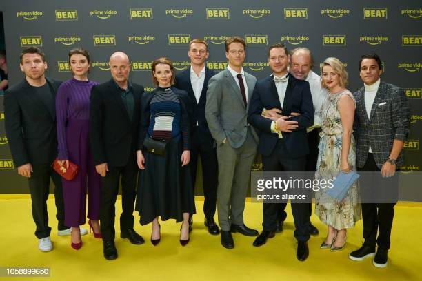 The actors of the film 'Beat' with their director Hanno Koffler Anna Bederke Christian Berkel Karoline Herfurth Jannis Niewöhner Alexander Fehling...