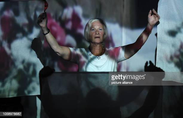 """November 2018, Bremen: Rita is rehearsing the play """"I have a dream"""" on the stage of the """"Wilde Bühne"""". Away from cannabis, alcohol and amphitamine..."""