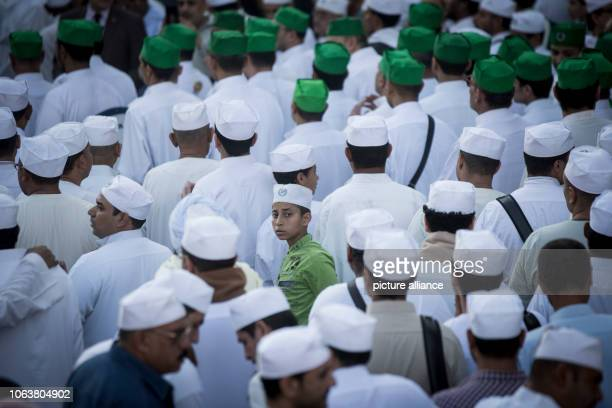 November 2018, Egypt, Cairo: Sufis take part in a march at Al Hussein district, to mark the Mawlid al-Nabi al-Sharif, an occasion on which Muslim...