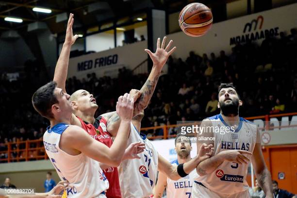 Basketball World Cup qualification Greece Germany Europe 2nd round Group L 3rd matchday German Maik Zirbes and Greek Giannoulis Larentzakis...