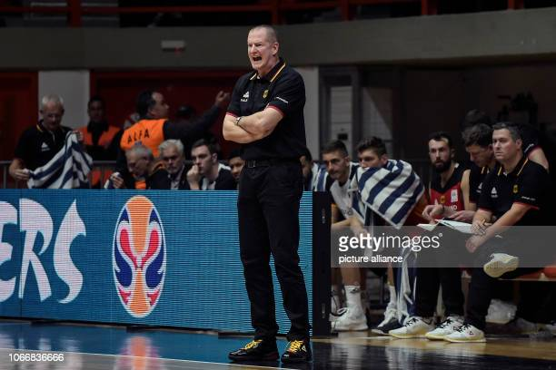 Basketball World Cup qualification Greece Germany Europe 2nd round Group L 3rd matchday The German national coach Henrik Rödl on the side line Photo...