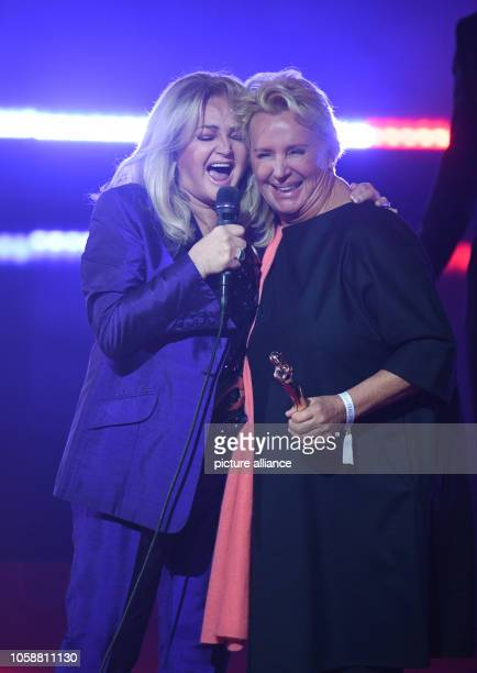 Singer and laudator Bonnie Tyler and laureate Lydia Staltner will be on stage during the award ceremony of the Goldene Bild der Frau 2018 The...