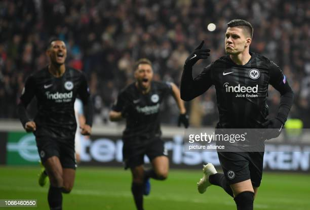 Soccer Europa League Eintracht Frankfurt Olympique Marseille Group stage Group H 5th matchday in the Commerzbank Arena Sebastien Haller Simon Falette...