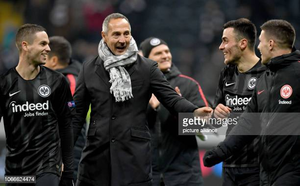 Soccer Europa League Eintracht Frankfurt Olympique Marseille Group stage Group H 5th matchday in the Commerzbank Arena Frankfurt's head coach Adi...
