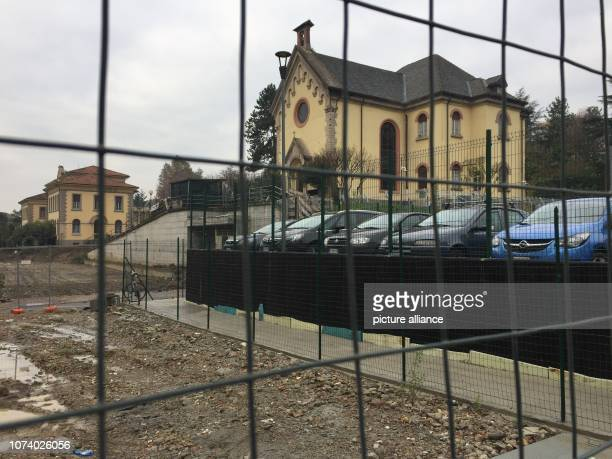 November 2018, Italy, Bergamo: View of the chapel of the former Ospedali Riuniti Hospital. It is located in the middle of a construction site - a new...