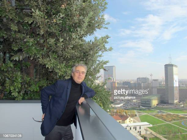 The Milanese architect Stefano Boeri stands on a balcony of his Bosco Verticale He has clad two highrise towers in the glass banking district of the...