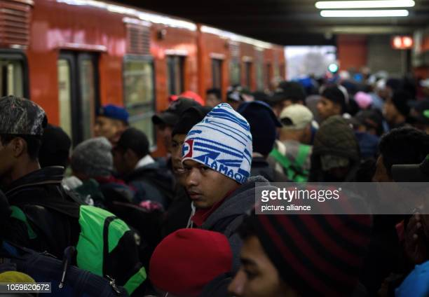 Numerous migrants make their way back to an underground station in the Mexican capital After many of them spent several days in Mexico City they want...
