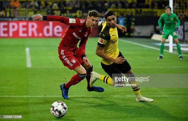 10 November 2018 North RhineWestphalia Dortmund Soccer Bundesliga Borussia Dortmund Bayern Munich 11th matchday in SignalIduna Park Achraf Hakimi...