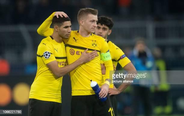 28 November 2018 North RhineWestphalia Dortmund Soccer Champions League Borussia Dortmund FC Brügge Group stage Group A Matchday 5 Dortmund's Achraf...