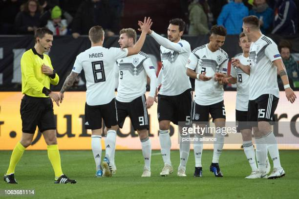 19 November 2018 North RhineWestphalia Gelsenkirchen Soccer Nations League A Germany Netherlands Group stage Group 1 6th matchday Referee Ovidiu Alin...