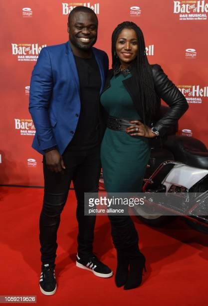 08 November 2018 North RhineWestphalia Oberhausen Footballer Gerald Asamoah and his wife Linda come to the Stage Metronom Theater for the premiere of...